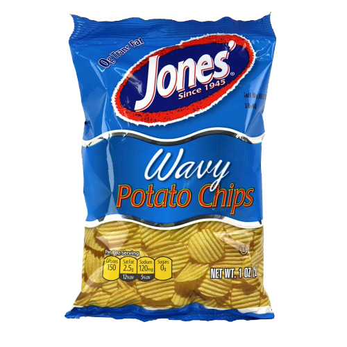 Wavy Potato Chips 16 oz, 9 oz, 2.25 oz, 1 oz