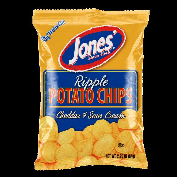 Ripple Cheddar & Sour Cream Potato Chips 9 oz, 2.25 oz