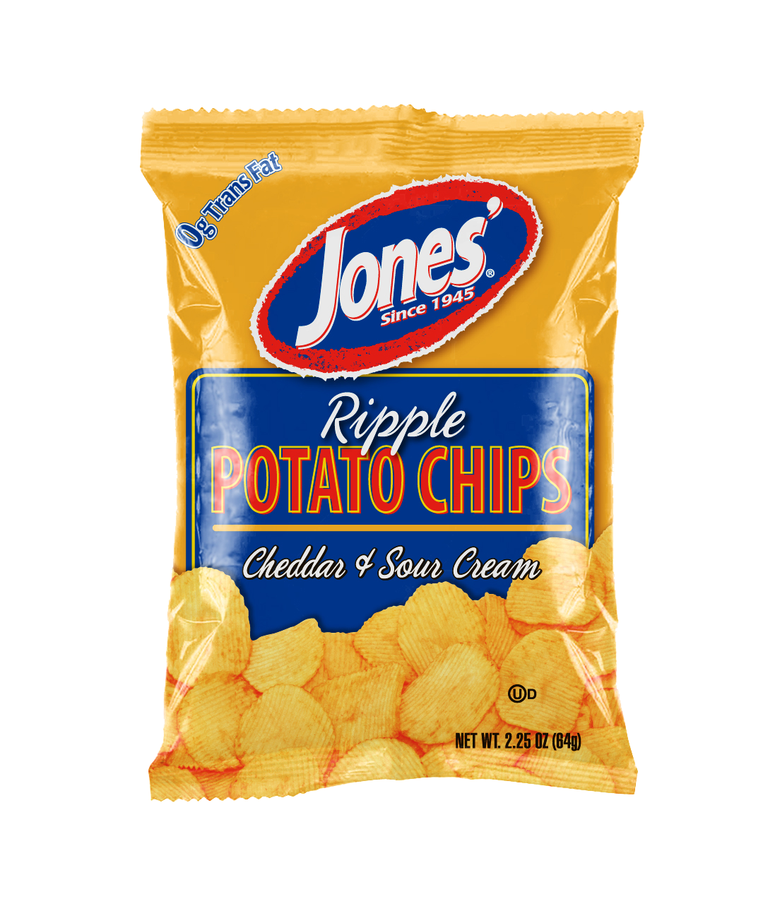Ripple Cheddar & Sour Cream Potato Chips 9 oz, 2.25 oz