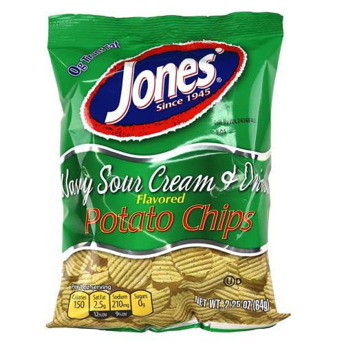 Wavy Sour Cream & Onion Potato Chips 9 oz, 2.25 oz
