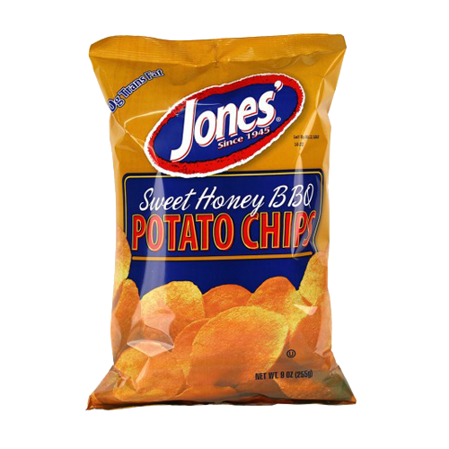 Sweet Honey BBQ Potato Chips 9 oz, 2.25 oz