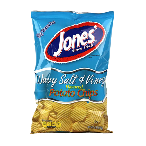Wavy Salt & Vinegar Potato Chips 9 oz, 2.25 oz, 1 oz